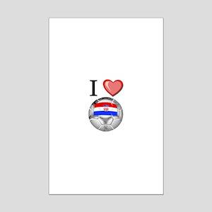 I Love Croatia Football Mini Poster Print