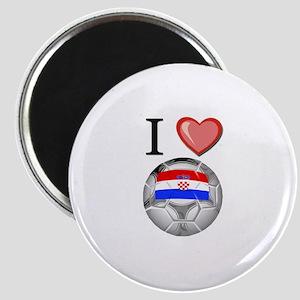 I Love Croatia Football Magnet
