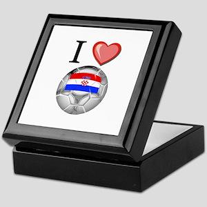 I Love Croatia Football Keepsake Box