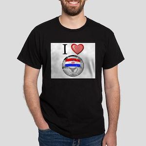 I Love Croatia Football Dark T-Shirt