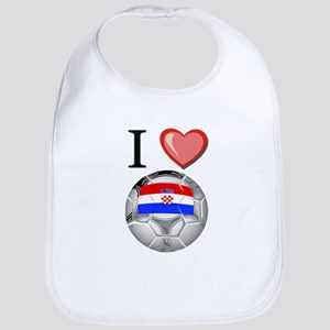 I Love Croatia Football Bib