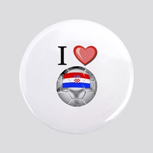 "I Love Croatia Football 3.5"" Button"