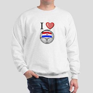 I Love Croatia Football Sweatshirt