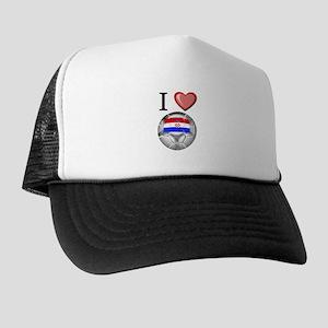 I Love Croatia Football Trucker Hat