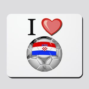I Love Croatia Football Mousepad