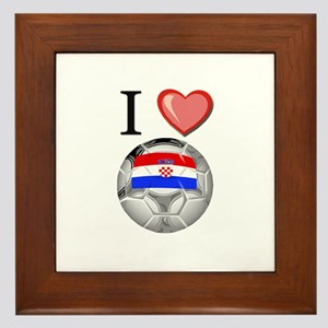 I Love Croatia Football Framed Tile