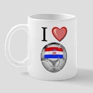 I Love Croatia Football Mug