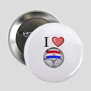 """I Love Croatia Football 2.25"""" Button"""