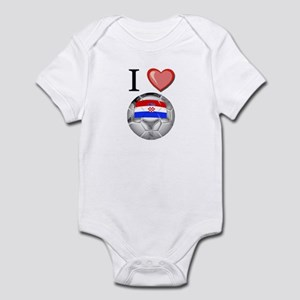 I Love Croatia Football Infant Bodysuit