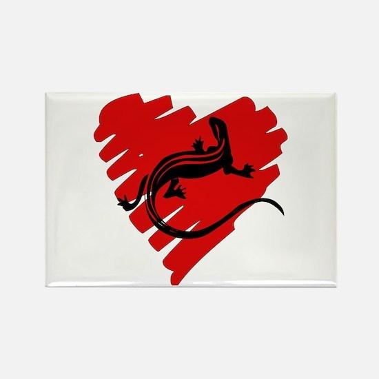 Heart Of Newt Anti-Valentine Rectangle Magnet