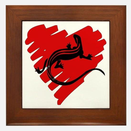 Heart Of Newt Anti-Valentine Framed Tile