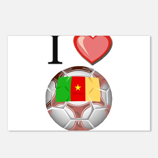 I Love Cameroon Football Postcards (Package of 8)
