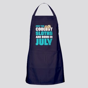 Only The Coolest Sloths Are Born In J Apron (dark)