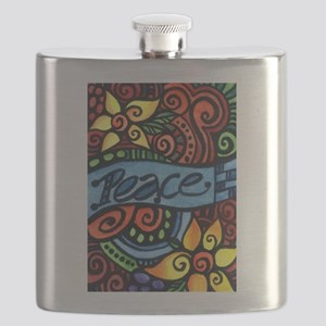 Peace, Love and Flowers Flask