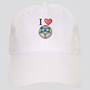 I Love Brazil Football Cap