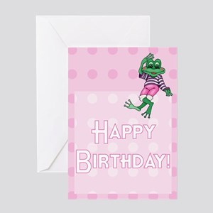 Girl's Leap Day Birthday Card