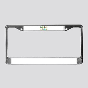 Marine Themed Flowers License Plate Frame