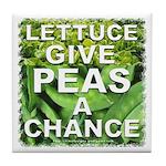 """Give Peas a Chance"" Tile Coaster"
