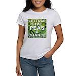 """Give Peas a Chance"" Women's T-Shirt"