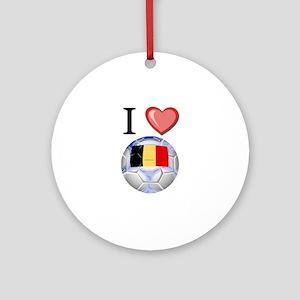 I Love Belgian Football Ornament (Round)