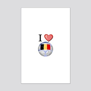 I Love Belgian Football Mini Poster Print