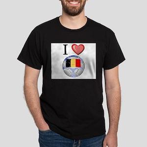 I Love Belgian Football Dark T-Shirt