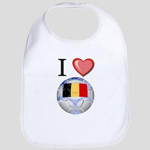 I Love Belgian Football Bib