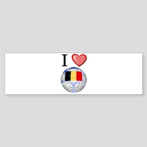 I Love Belgian Football Bumper Sticker