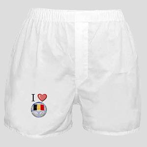 I Love Belgian Football Boxer Shorts