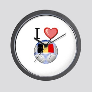 I Love Belgian Football Wall Clock