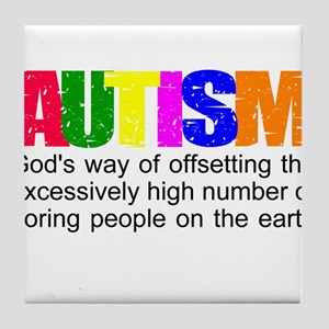 God's autism Tile Coaster