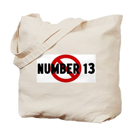Anti number 13 Tote Bag