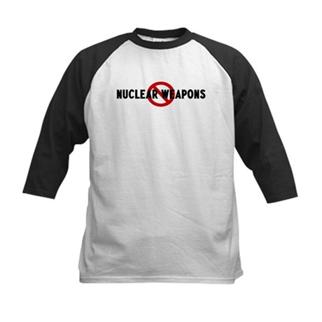 Anti nuclear weapons Kids Baseball Jersey