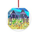 Purple Crystal Keepsake (Round)
