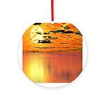 Yellow Ball Sunset Keepsake (Round)