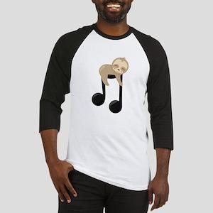 Cute Sloth Music Note Baseball Jersey