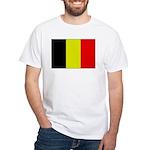 Large Belgian Flag White T-Shirt