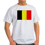 Large Belgian Flag Ash Grey T-Shirt