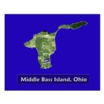 Middle Bass Satellite View Poster