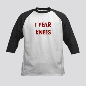 I Fear KNEES Kids Baseball Jersey