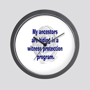 Genealogy's Witness Protection (blue) Wall Clock