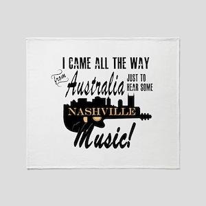 Hear Nashville Music from Australia Throw Blanket