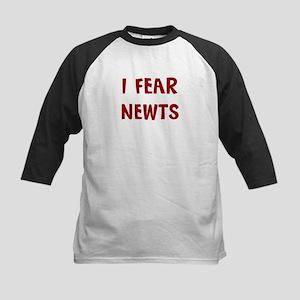 I Fear NEWTS Kids Baseball Jersey