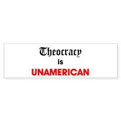 Theocracy Is Unamerican