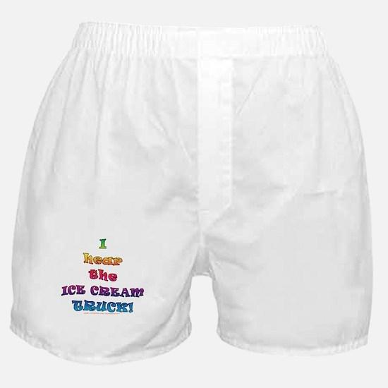 Fun Ice Cream Truck Saying  Boxer Shorts