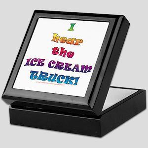 Fun Ice Cream Truck Saying  Keepsake Box