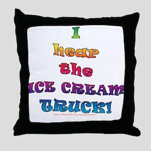Fun Ice Cream Truck Saying  Throw Pillow