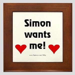 Idol Simon Wants Me Framed Tile