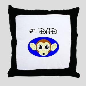 #1dad Throw Pillow