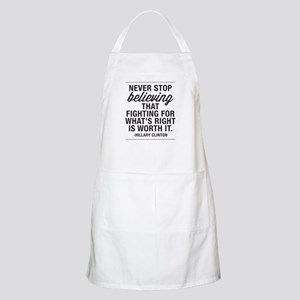 Never Stop Believing Light Apron